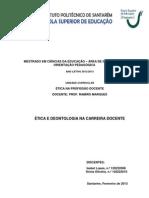 Ética e Deontologia na Carreira Docente