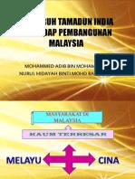 Pengaruh Tamadun India Terhadap Pembangunan Malaysia