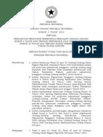 UU 3 Tahun 2010 Pencabutan Perpu 4-2009 Perubahan UU 30-2002 tentang Komisi Tipikor