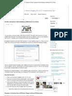Install .Net Framework 3 on Windows 8