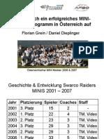 Aufbau Mini Team Grein Dieplinger