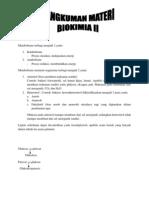 rangkuman biokimia