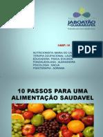 10 PASSOS PARA UMA ALIMENTAÇÃO SAUDAVEL