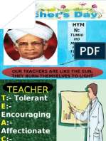 TEACHERS DAY PRESENTATION!