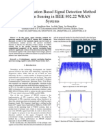 Spectral Correlation Based Signal Detection Method