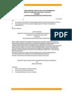 Surat Edaran Menteri Tenaga Kerja dan Transmigrasi Nomor SE-180/MEN/PPK-SES/VI/2007 Tahun 2007 tentang PELAPORAN KETENAGAKERJAAN DI PERUSAHAAN
