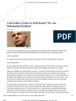Carl Icahn's Letter to Dell Board_ 'We Are Substantial Holders' - Deal Journal - WSJ