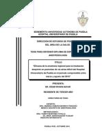 Eficacia Anestesia Regional Para Intabacion en Pacientes VAD