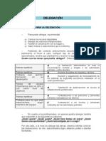 Delegación (Requisitos y Obstáculos)