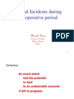 Critical Incidentsduring Perioperative Period Sept 2011