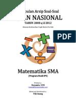 Kumpulan Arsip Soal UN Matematika SMA Program IPS Tahun 2008-2012 Per Bab