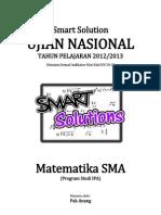 Smart Solution Un Matematika Sma 2013 (Skl 3.1 Dimensi Tiga (Jarak Dan Sudut))