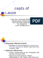 Concepts of Cause Epidemiology