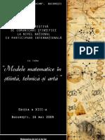 Modele Matematice in Stiinta Tehnica Si Arta