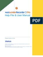 AutoScreenRecorder Help