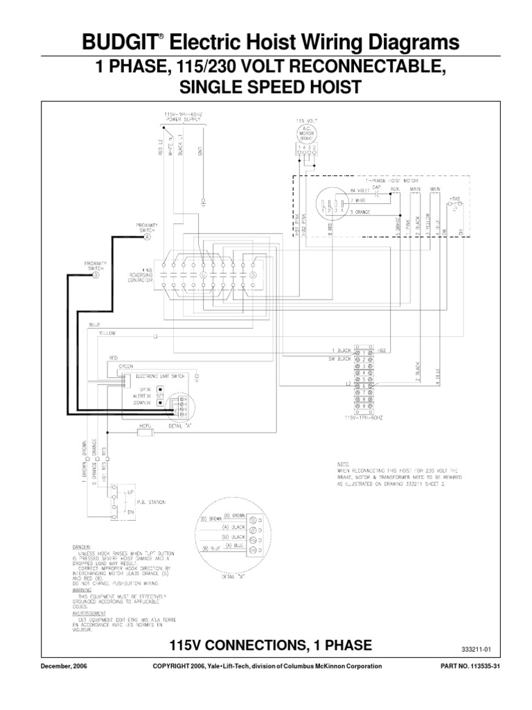 [QNCB_7524]  Budgit BEHC Wiring Diagram | Electronic Engineering | Electrical Equipment | Budgit Hoist Wiring Schematic |  | Scribd