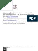 Sectores Popoulares y Sectores en La Ciudad de Mexico a Dediados de Siglo XIX