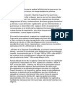 La Incidencia de Las Guerras en Los Nego Inter.