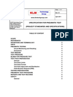 Project Standards and Specifications Pneumatic Test Specification Rev01