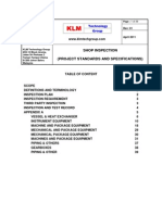 Project Standards and Specifications Shop Inspection Guidelines Rev01