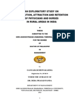 Attraction and Retention of Physicians and Nurses in Rural Areas in India