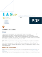 » Books for CSAT Prelims » Best Books for IAS Prelims and Mains