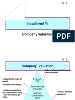 Investment VI FINC 404 Company Valuation