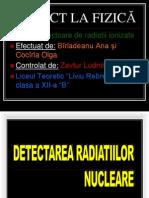 Detectoare de Radiatii Nucleare