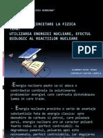 Utilizarea Energiei Nucleare Efectul Biologic Al Reactiilor Nucleare