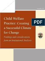 Child Welfare Practice Creating a Successful Climate for Change