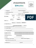Emlpoyee Information Form