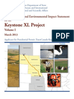 Volume One, Project Description, Alternatives, and Affected Environment, Keystone XL Pipeline Supplemental Environmental Impact Statement