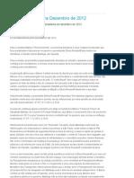 Economia Brasileira Dezembro de 2012