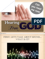 Hearing From God, PDF of Slide show used during discussion of notes