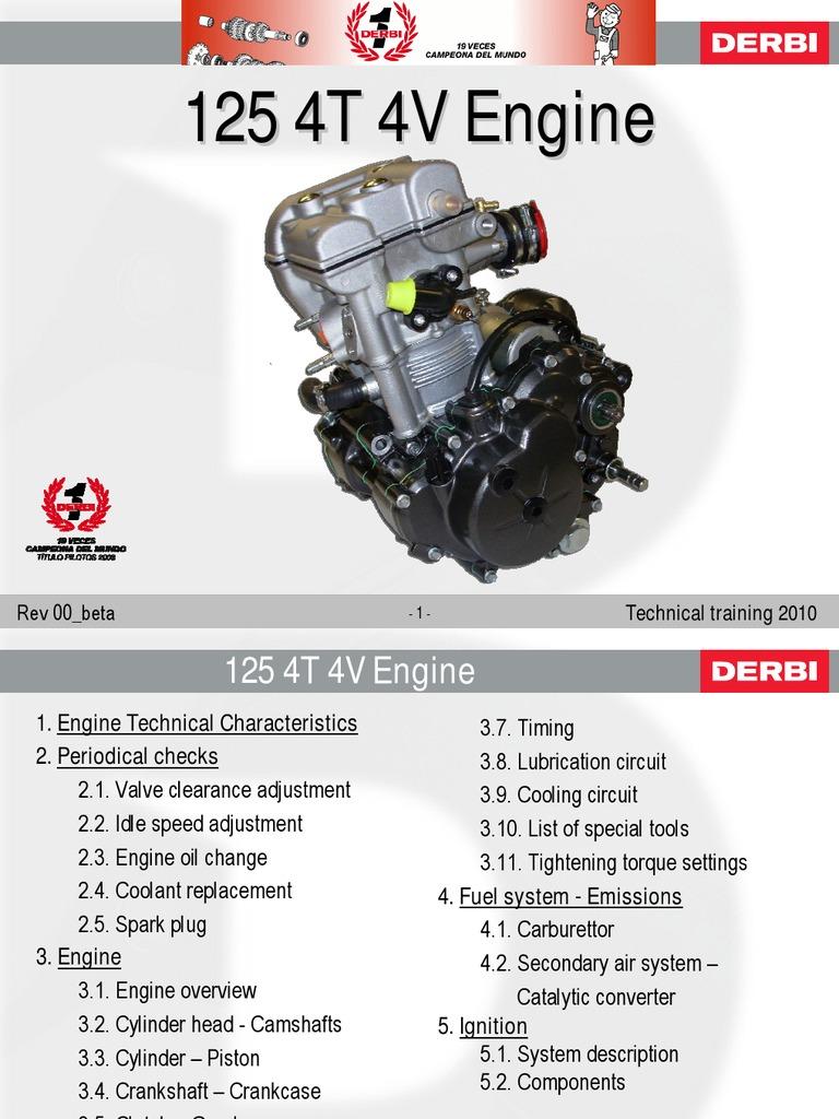 derbi technical training 2010 125 4t 4v clutch transmission rh scribd com Derbi Senda 50 2018 derbi senda r 50 service manual