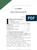 La norma. Teoría General del Derecho