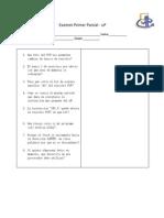 Examen uP- Primer - V2