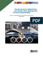 ADI Enables Mass Deployments of Camera-Based ADAS