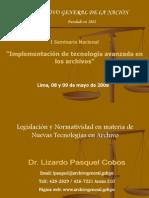 Legislacion Archivistica Nuevas Tecnologias