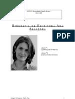 Biografia de Ana Saldanha - 8ºC