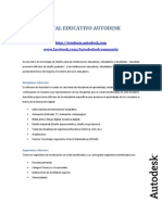 Portal Educativo Autodesk - Lista de Productos Disponibles Fy13