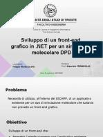 Sviluppo di un front-end grafico in .NET per un simulatore molecolare DPD