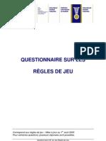 Questionnaire Sur Les Règles de Jeu_Fr