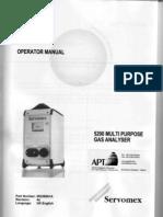 Manuale d'Uso - 5200 Multi Purpose Gas Analyser