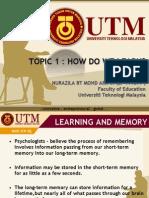 Pedagogy Topic 1- Nurazila Bt Mohd Arifin