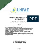 UNIDAD I. Citología-Histología y Embriología