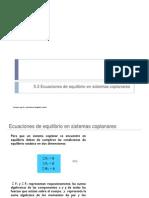 5.3 Ecuaciones de Equilibrio en Sistemas Coplanares, Cap 5.3