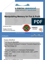 Manipulating Memory for Fun and Profit