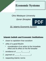 22 - Islamic Economic System