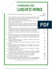 A Chronological Timeline of the Life of St Patrick